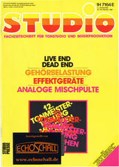 [Translate to Englisch:] Studio Magazin Heft 44-Gehörbelastung in Tonstudios-Live End Dead End