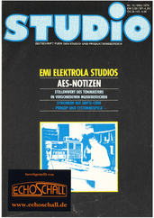 [Translate to Englisch:] Heft 15-EMI Elektrola-Studios-AES Notizen