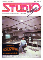 [Translate to Englisch:] Studio Magazin Heft 96-Edo Zanki, TC Electronic 2290 Delay, Test DDA AMR 24 Mischpult