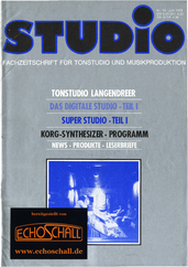[Translate to Englisch:] Heft 18-Tonstudio Langendreer-Korg Synthesizer Programm