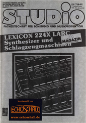 [Translate to Englisch:] Studio Magazin Heft 69-Lexicon 224 XL-Drumcomputer im Studio-Messung EMT 240